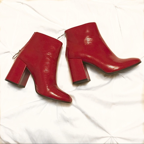 2c19b8fd60acd Forever 21 Shoes - Forever 21 red patent leather booties